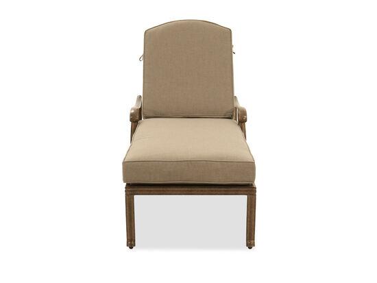Cast Aluminium Patio Chaise Lounge in Brown