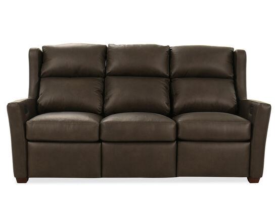 Power Reclining Leather 77'' Motion Sofa in Dark Grey