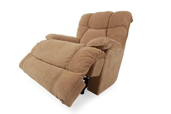 "Pillow-Top Arm 40"" Massage Recliner in Tan"