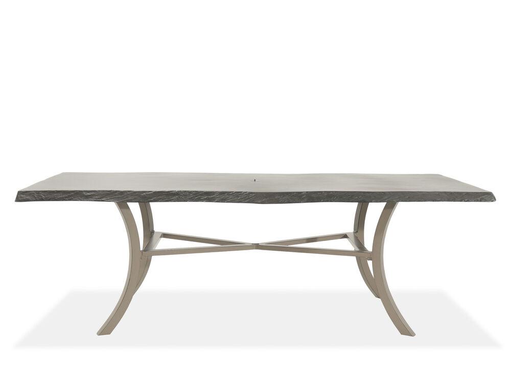Traditional Rectangular Patio Dining Table In Dark Brown
