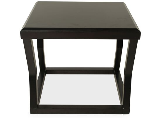 Rectangular Contemporary End Tablein Dark Espresso
