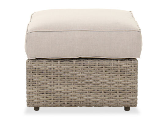 Contemporary Cushion Top Ottoman in Light Grey