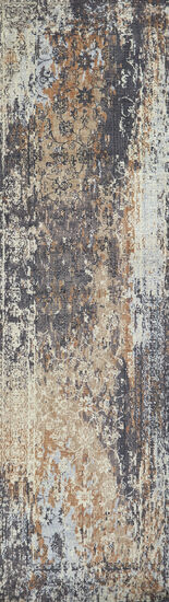 Transitional Power-Loomed 2.6 x 8 Runner Rug in Gray