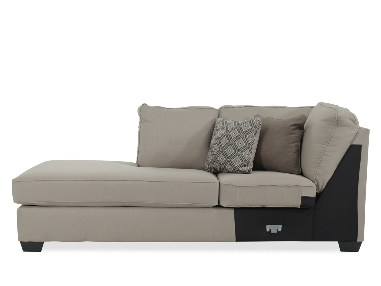 Contemporary 36 right arm facing chaise in beige mathis for Ashley beige sofa chaise