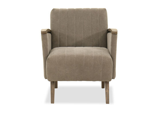 High Arm Lounge Chair in Gray