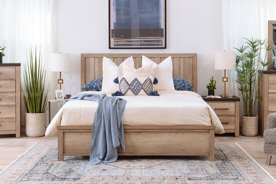 """54"""" Low-Profile Casual Queen Bed in Brown"""