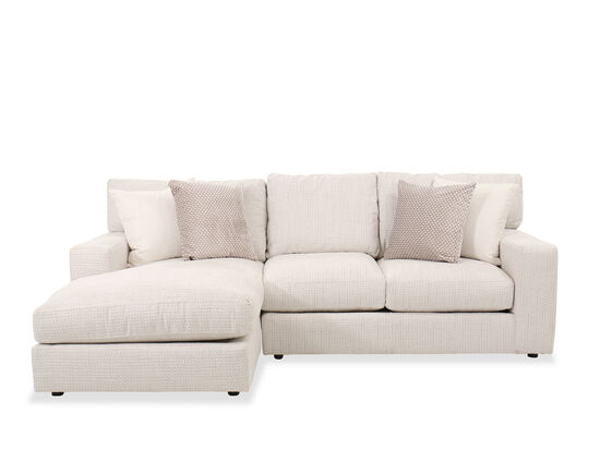 Two-Piece Contemporary Sectional in Beige