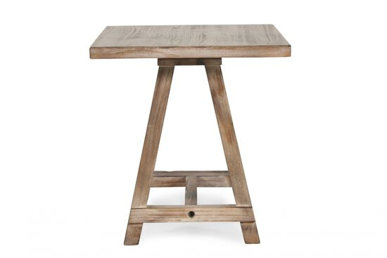 A-Framed Casual Accent Table in Blond Pine