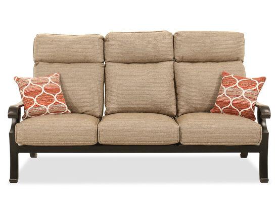 Aluminum Sofa in Brown