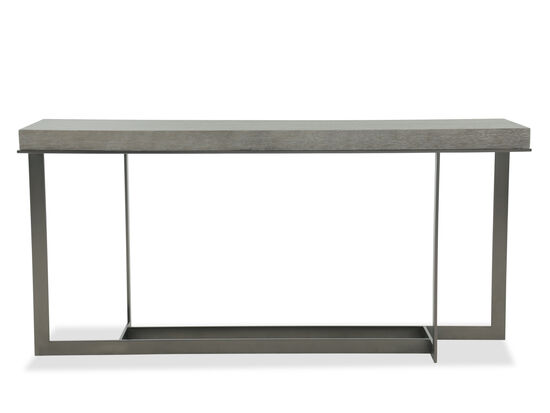 Rectangular Base Casual Console Table in Blackened Bronze