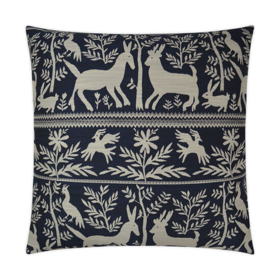 Zola Pillow in Navy Blue