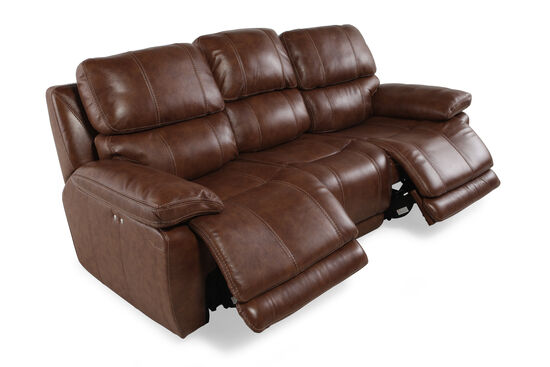 "Leather 98"" Power Reclining Sofa in Tumbleweed"