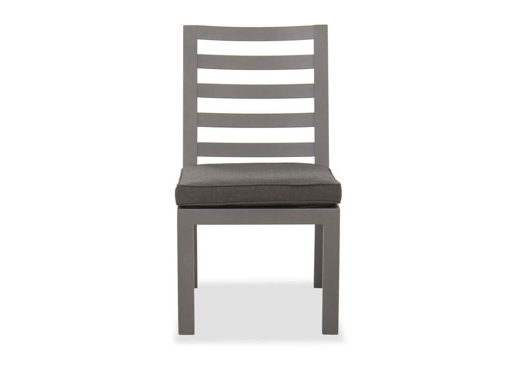 Casual Patio Dining Chair in Gray