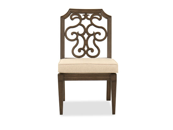 Traditional Armless Patio Dining Chair in Branch