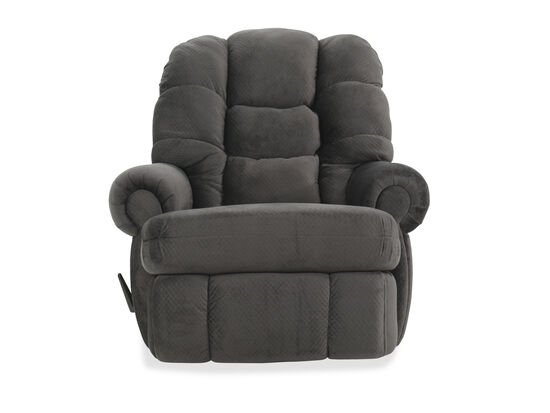 "Comfort King Casual 44"" Rocking Recliner in Gray"