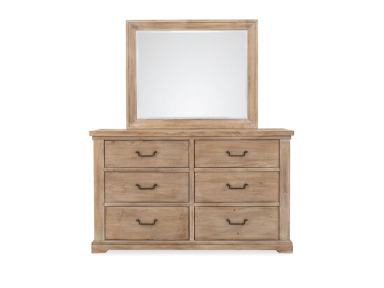 "39"" Casual Six-Drawer Dresser Only in Cypress"