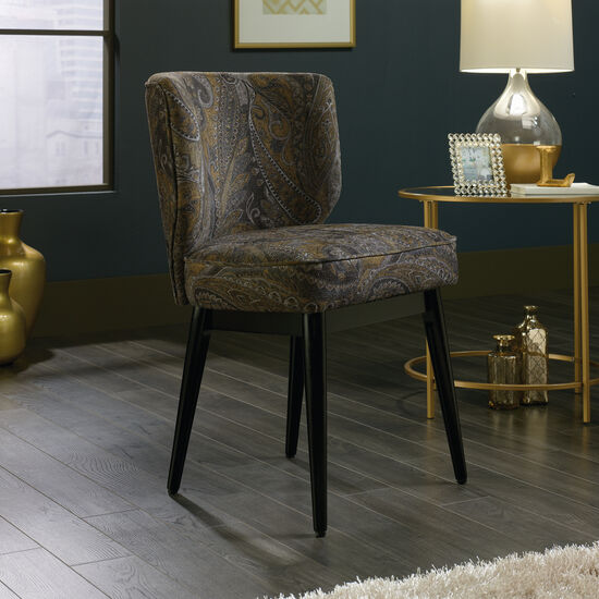 "Contemporary Autumn Brocade-Patterned 22"" Accent Chair"