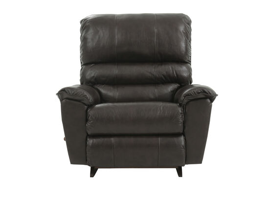 Leather Casual 45'' Rocker Recliner in Brown