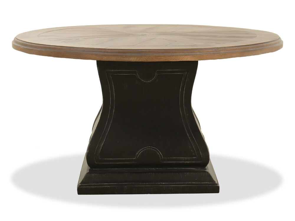 Traditional Round Patio Dining Table in Garden Gate