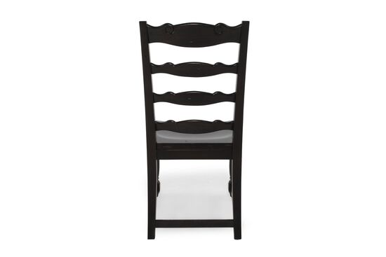 Two-Piece Ladder Back 42'' Side Chair Set in Dark Macchiato