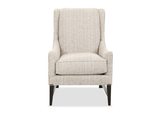 """Transitional 29"""" Accent Chair in Taupe"""
