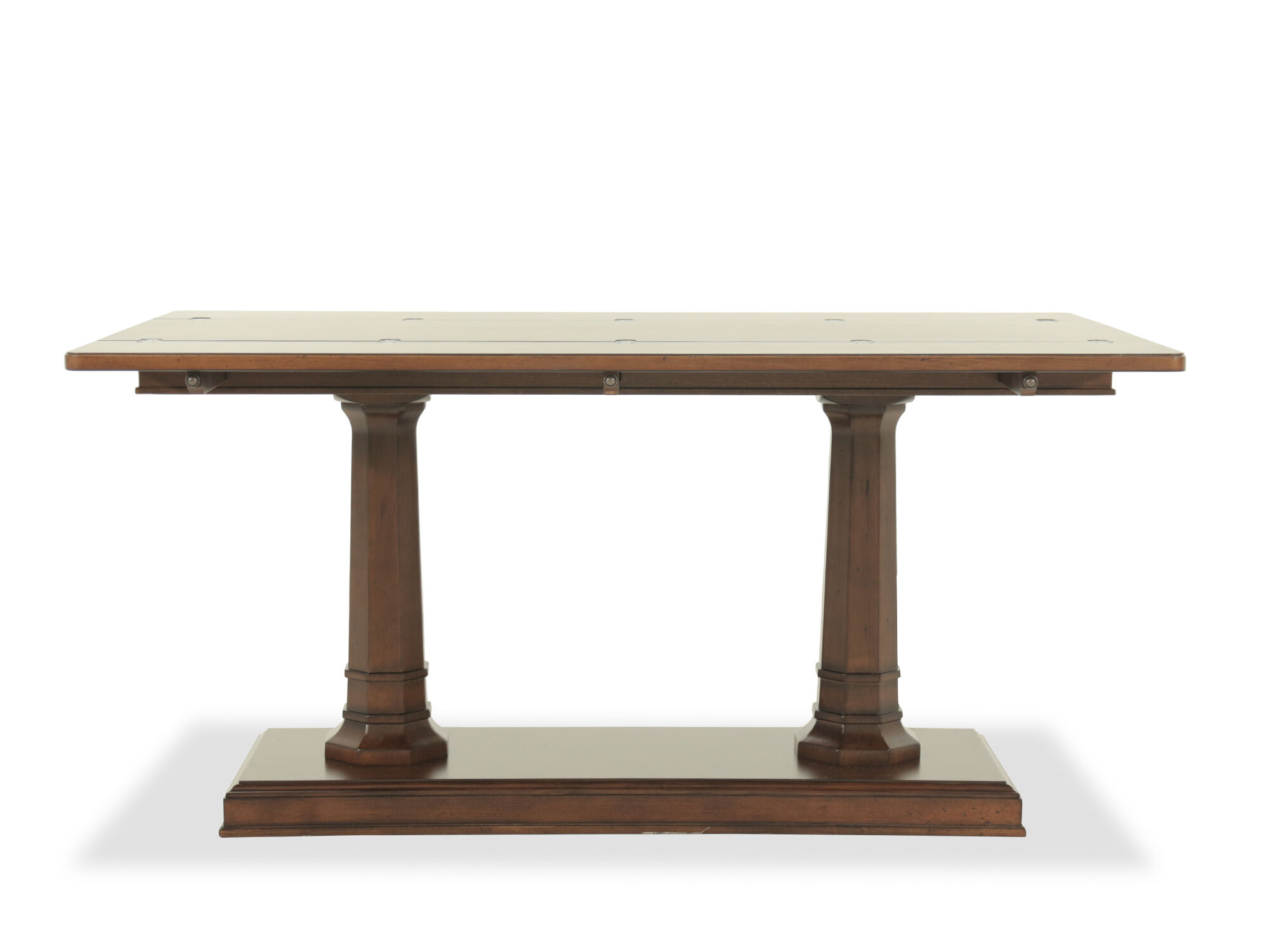 Images Double Pedestal Traditional Console Table In Brown