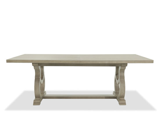 "Traditional 48"" Rectangular Dining Table in Gray Cashmere"