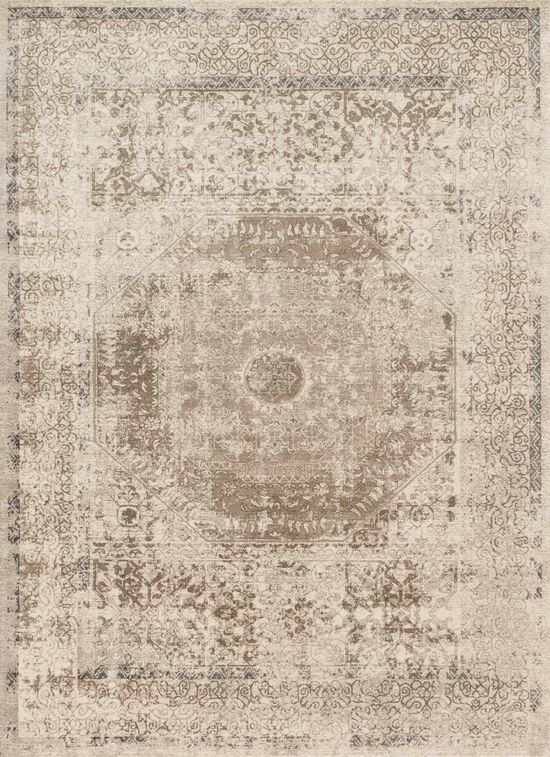 """Transitional 6'-7""""x9'-2"""" Rug in Taupe/Sand"""