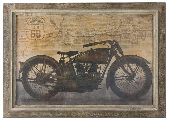 Framed Motorcycle Wall Art