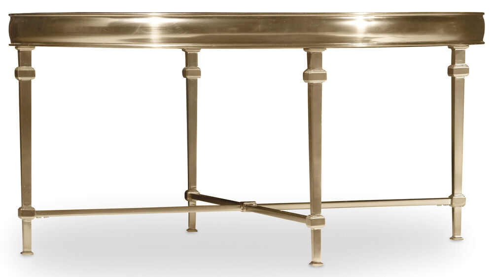 Highland Park Round Cocktail Table in Gold