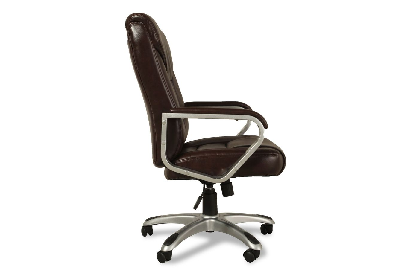 Oversized Leather Executive Chair In Brown Mathis