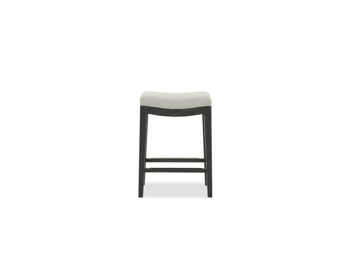 Nailhead Accented 26 Backless Bar Stool In Gray Mathis Brothers