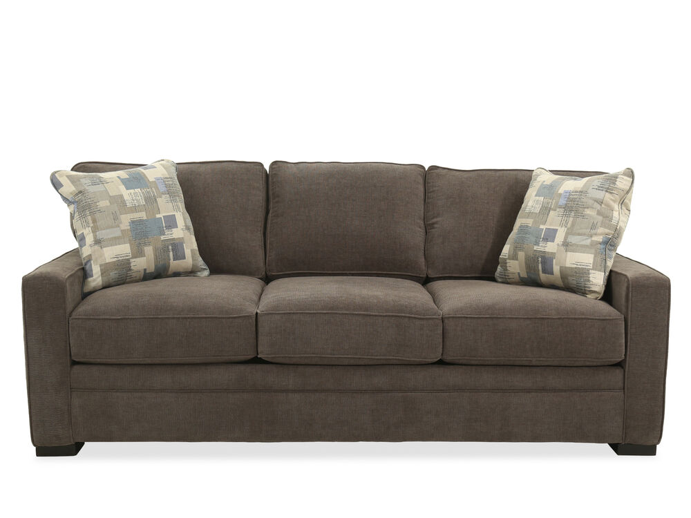 Casual Queen Sleeper Sofa In Brown Mathis Brothers Furniture
