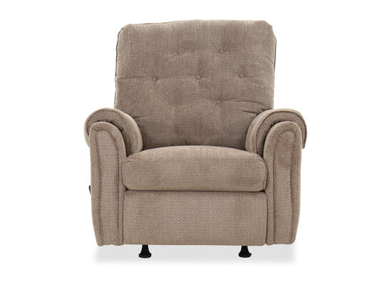 "Tufted Casual 36"" Rocker Recliner in Mushroom"