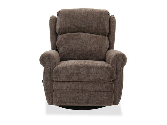 Contemporary Swivel Glider Recliner in Mink