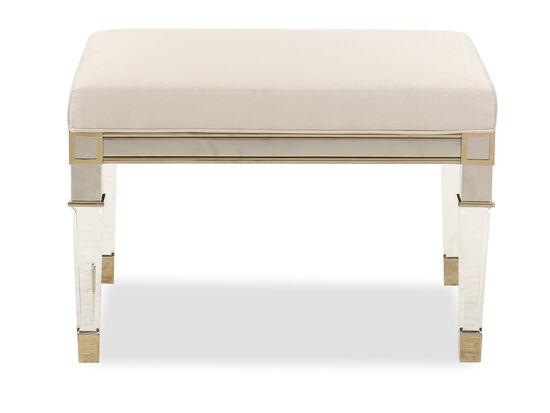 Rectangular Modern Dining Room Bench in Gold Bullion