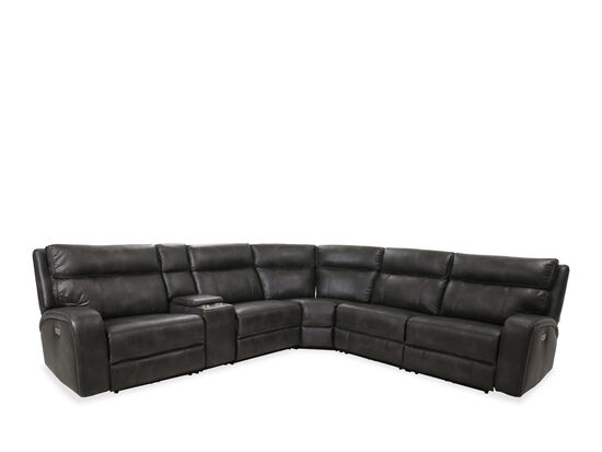 Six-Piece Power Reclining Sectional in Slate