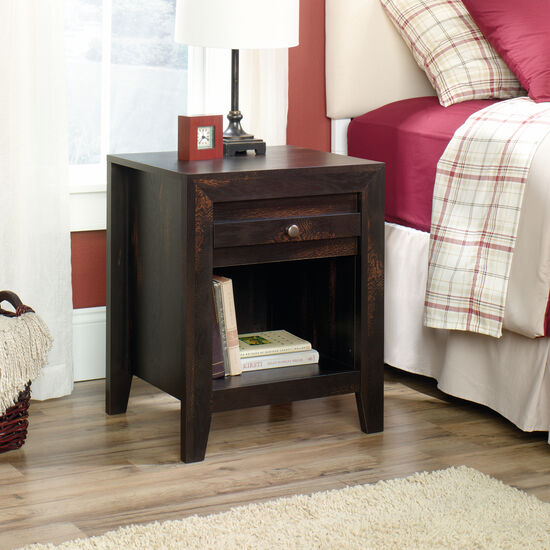 "24.5"" Traditional Nightstand in Char Pine"
