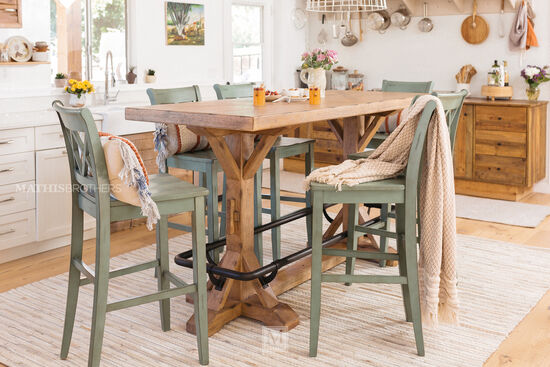 """Traditional 42"""" Pub Table in Blonde"""