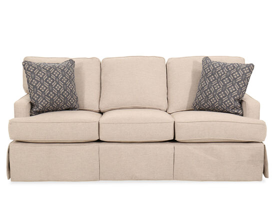 "Traditional 85"" Sleeper Sofa in Beige"