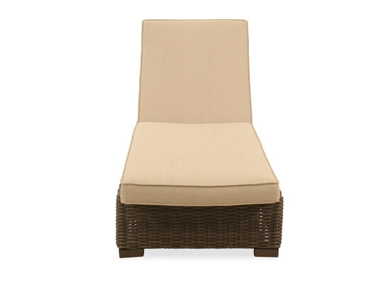 UV-Resistant Woven Chaise in Gray