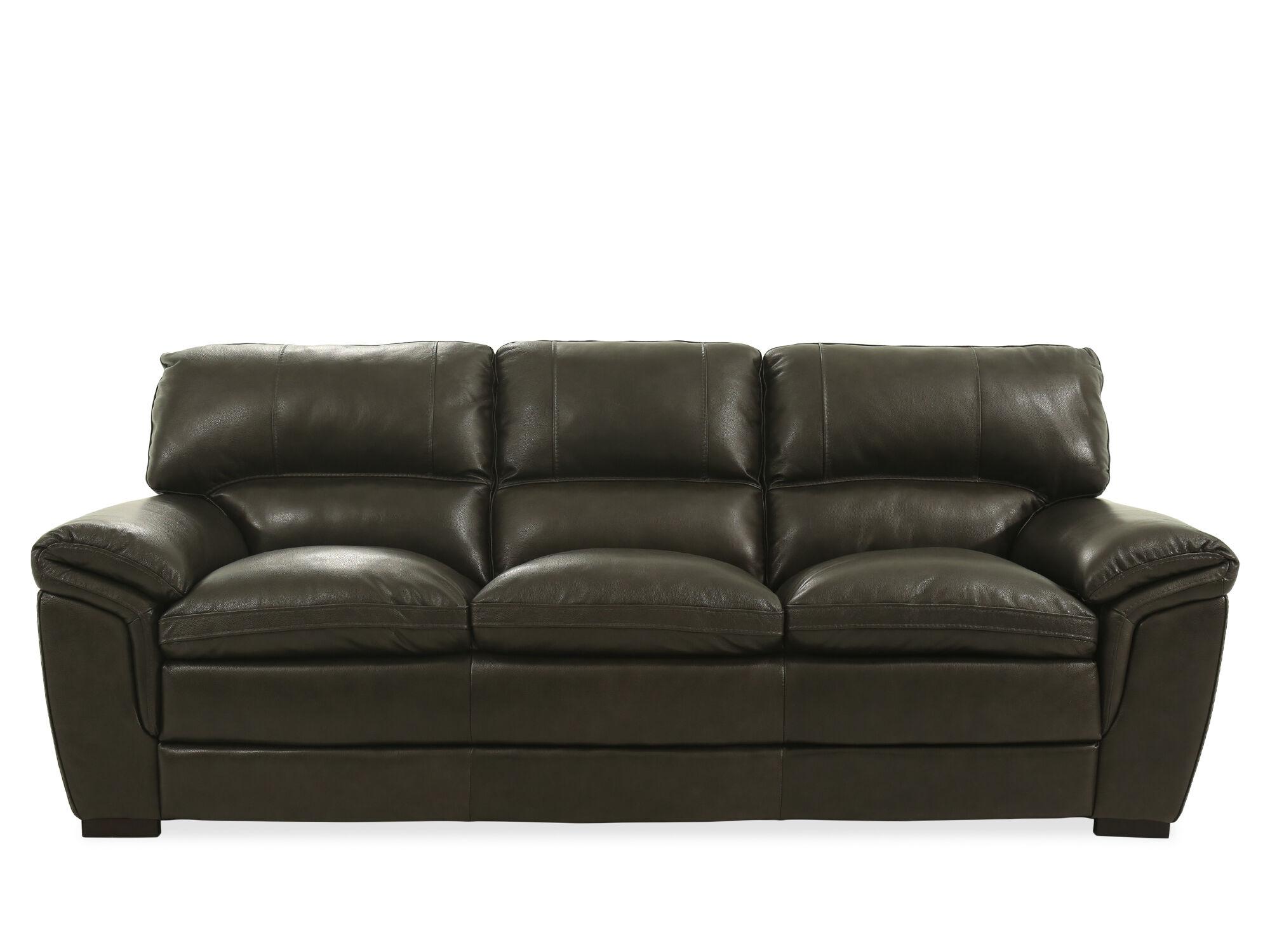 93u0026quot; Leather Sofa In ...