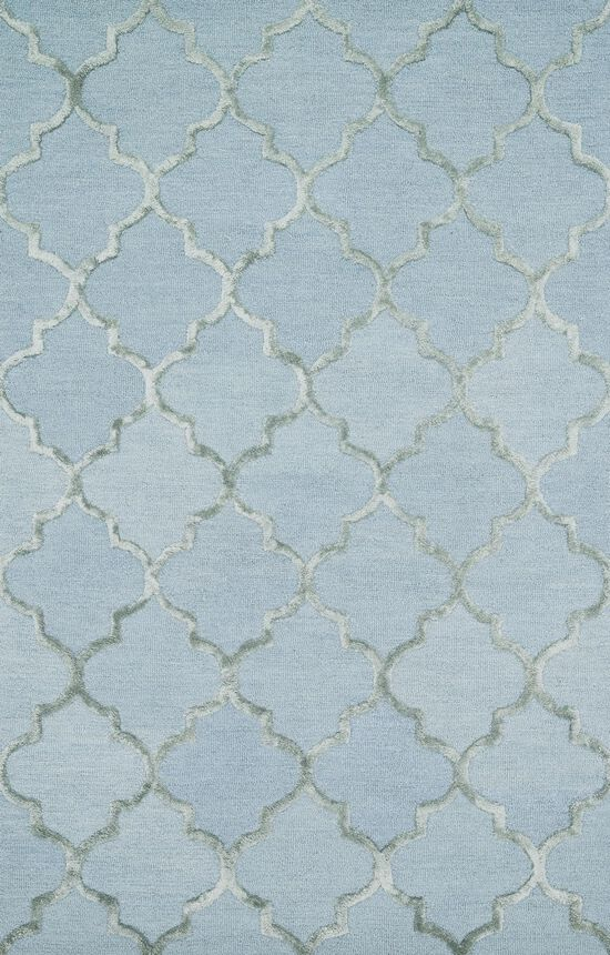 """Transitional 5'-0""""x7'-6"""" Rug in Mist"""