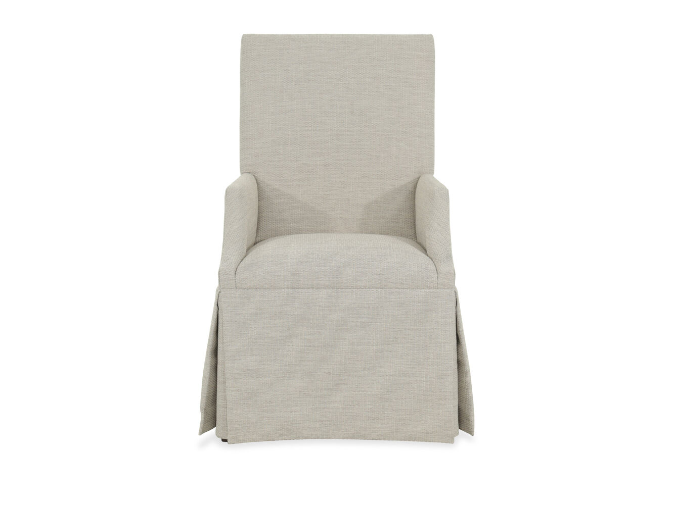 Upholstered 25 Quot Skirted Arm Chair In Beige Mathis