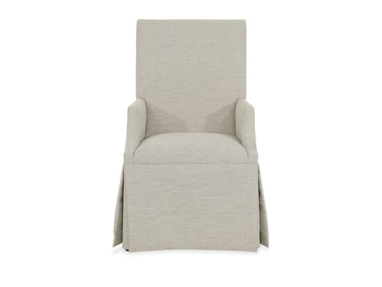 "Upholstered 25"" Skirted Arm Chair in Beige"