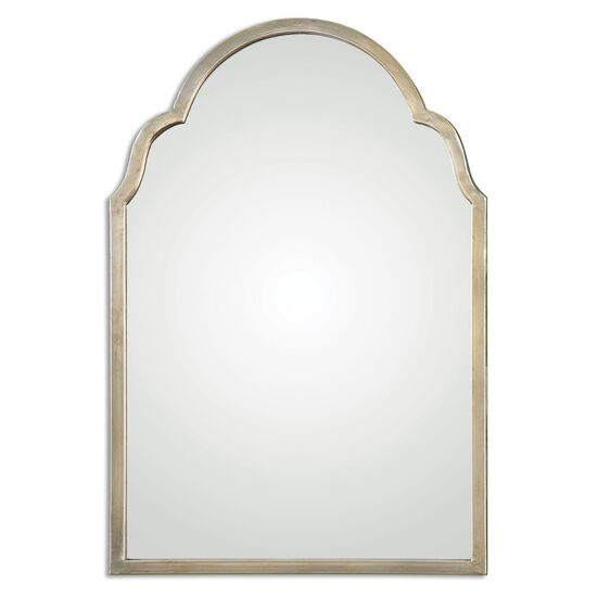 """30""""Arched Accent Mirror in Silver Champagne"""