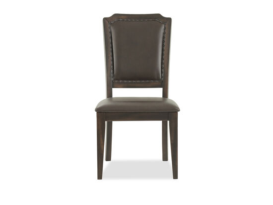 "Casual 41.5"" Nailhead-Accented Side Chair in Brown"