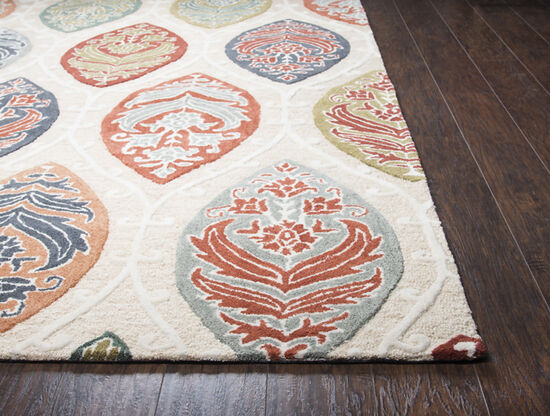 Transitional Hand-Tufted 2.6 x 8 Runner Rug in Tan