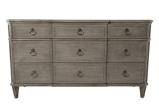 "38"" Refined Romantic Luxury Six-Drawer Dresser in Grey"