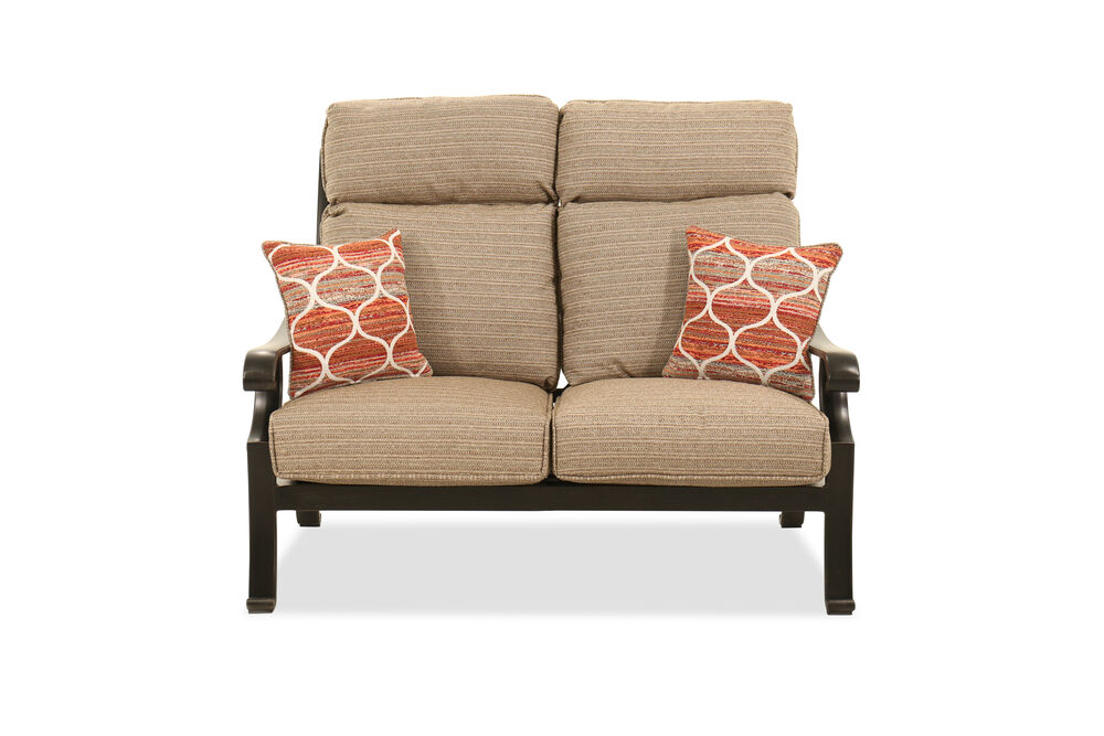 Aluminum Loveseat In Brown Mathis Brothers Furniture